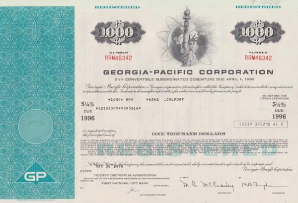 10x Georgia-Pacific Corporation (Miss Liberty)