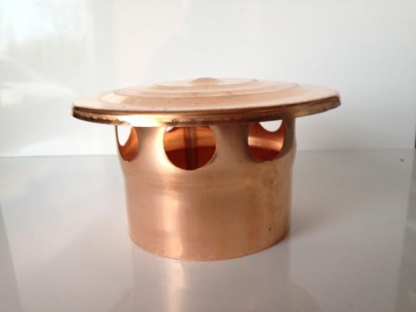 Kupfer Lüftungshaube 100 mm
