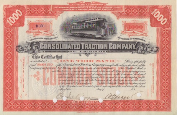 8x Consolidated Traction Company
