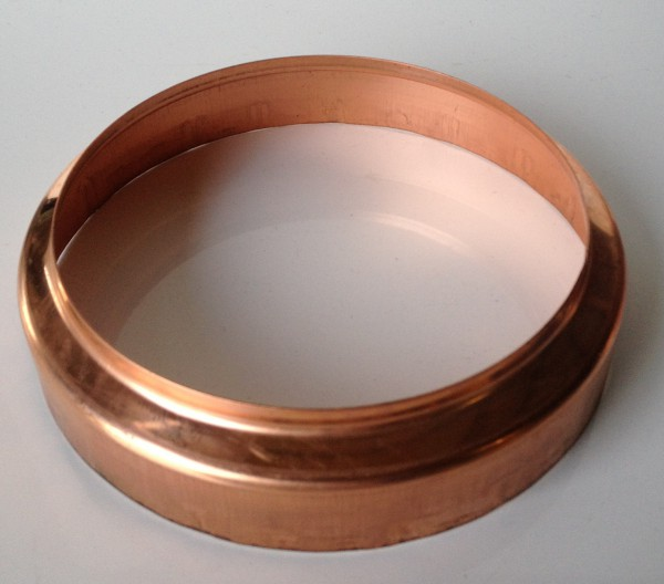 Kupfer Standrohrkappe 120 / 140 mm