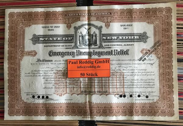 50x Emergency Unemployment Relief $5.000 Issue 1934