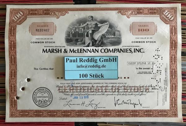 100x Marsh & McLennan Companies Inc. (100 Shares)