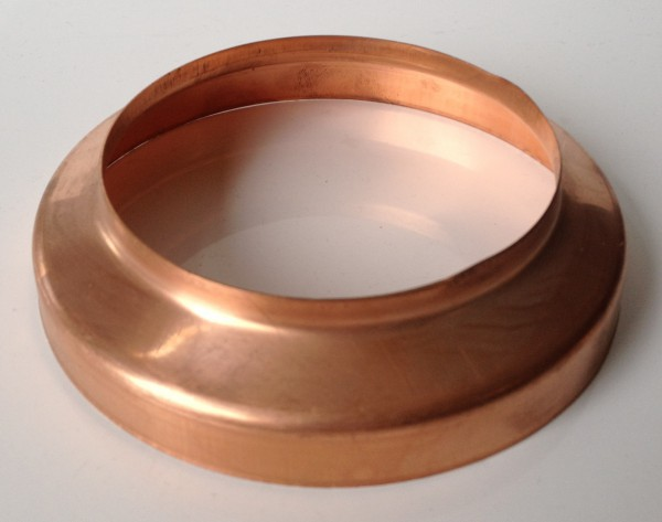 Kupfer Standrohrkappe 87 / 116 mm
