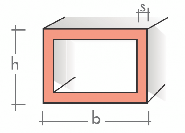 Rechteckrohr 40x15x2 mm 1500 mm pressblank