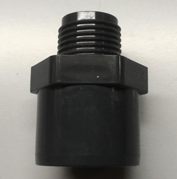 """PVC Übergangsnippel 25/32 mm auf 3/4"""" Außengewinde"""