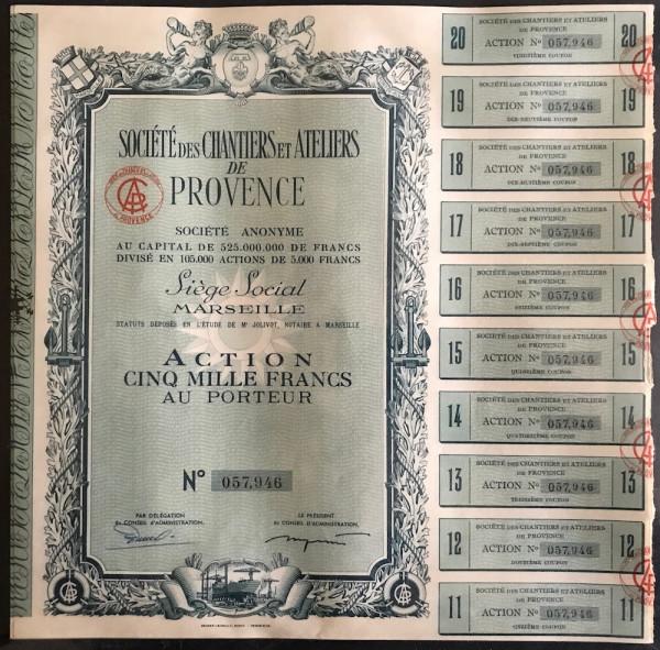 40x Societe des Chantiers et Ateliers de Provence Societe Amonyme