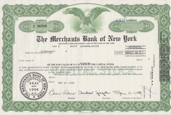 20x Merchants Bank of New York