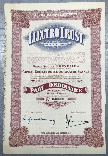 25x Electro Trust Societe Anonyme - Brüssel 1950