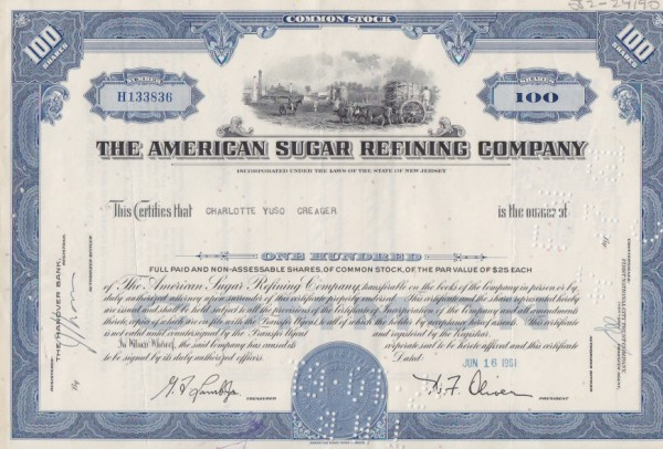 8x American Sugar Refining Company