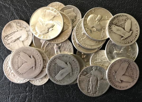 Anlageposten Münzen mit 90,00% Silberanteil