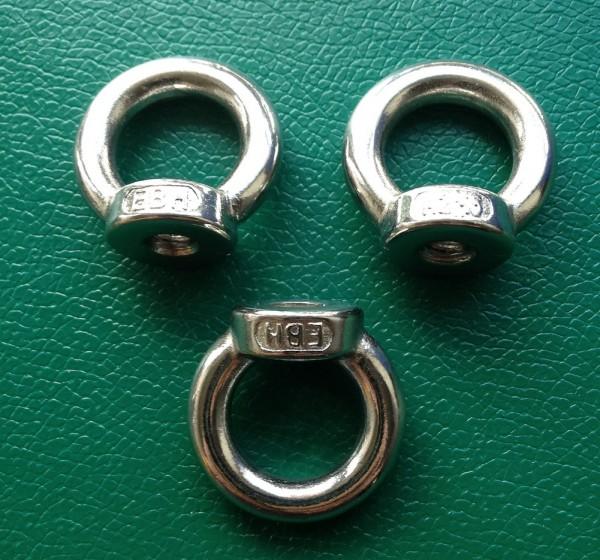 3 Ringmuttern M8 Edelstahl - ähnlich DIN 582