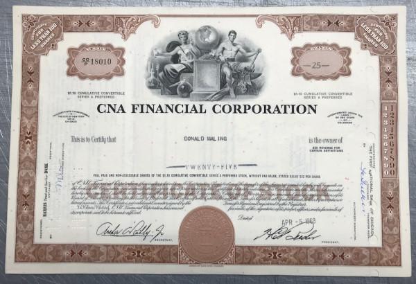 100x CNA Financial Corporation (<100 Shares) 1960er