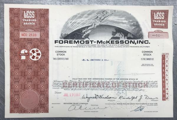 100x Foremost - McKesson Inc. (<100 Shares) 1960er