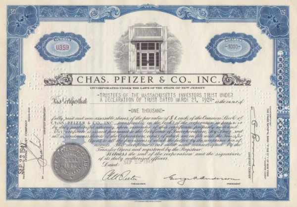 10x Chas. Pfizer & Co. Inc. (Viagra)