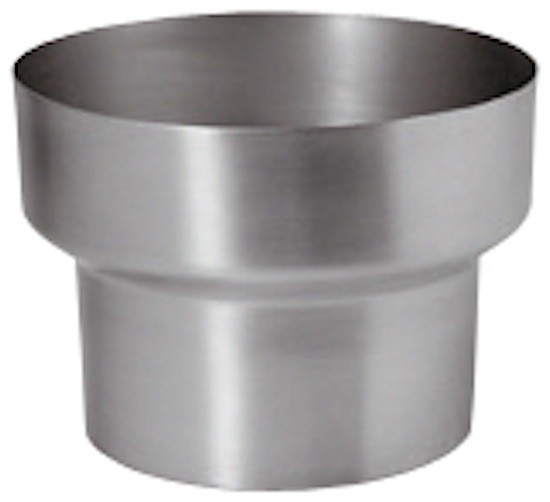 Zink Rohr-Reduziermuffe 76/60 mm (8tlg./10tlg.)