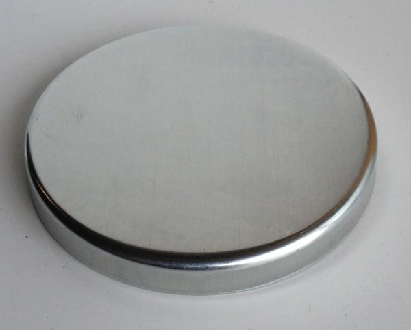 Zink Pfostenkappe / Schale 116 mm glatt