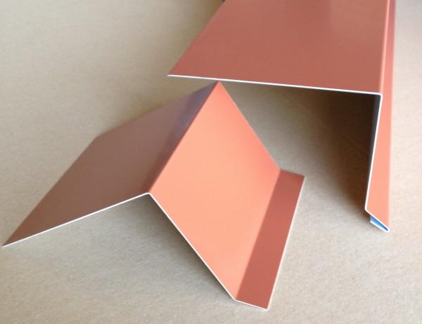 Dachrandprofil Alu ziegelrot 1500x175 mm