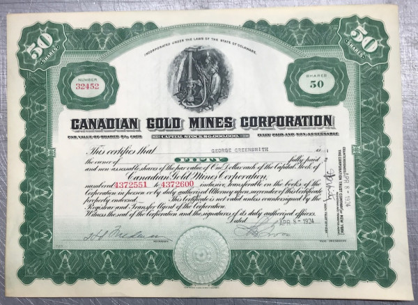 Canadian Gold Mines Corp.