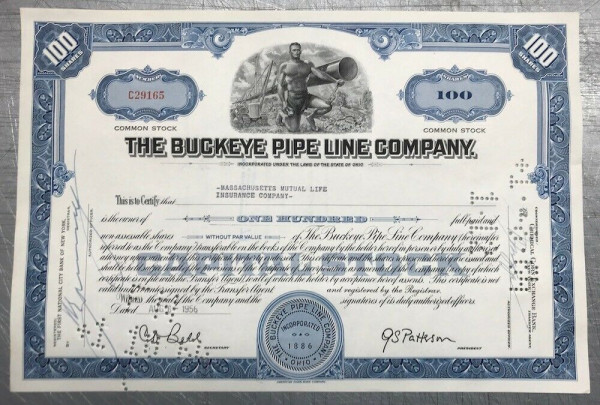 100x The Buckeye Pipe Line Company (100 Shares)
