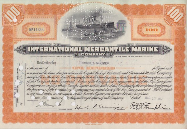 19x International Mercantile Marine Company