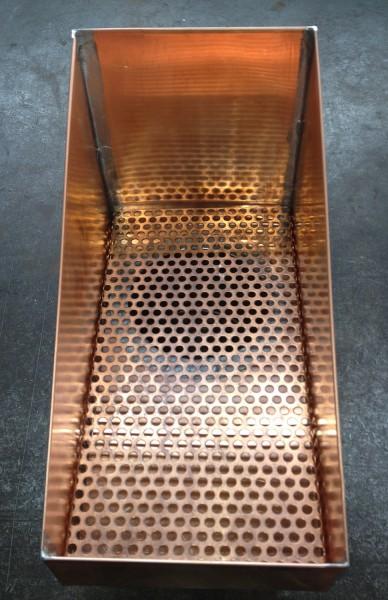 Kupfer Laubsammler 260 mm x 135 mm