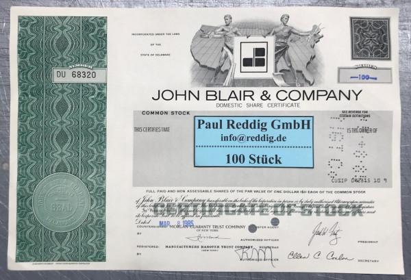 100x John Blair & Company (diverse Shares) Karte