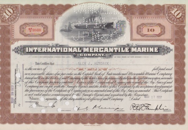 9x International Mercantile Marine Company