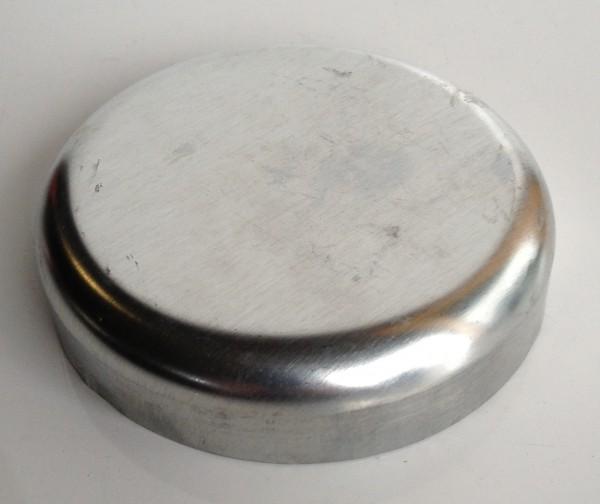 Zink Pfostenkappe / Schale 100 mm glatt