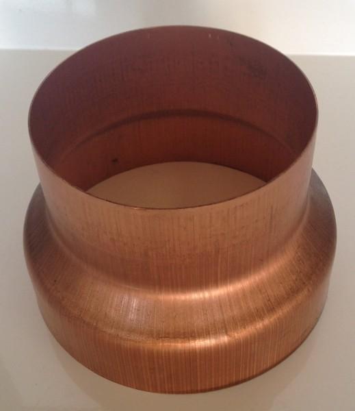 Kupfer Regenrohrmuffe reduziert 120/100 mm