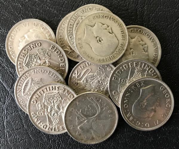 Anlageposten Münzen mit 50,00% Silberanteil