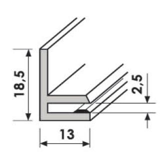 U-Profil U224 1000 mm weiss (RAL 9016)