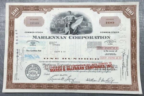 100x Marlennan Corporation - Aufdruck Marsh... (100 Shares)