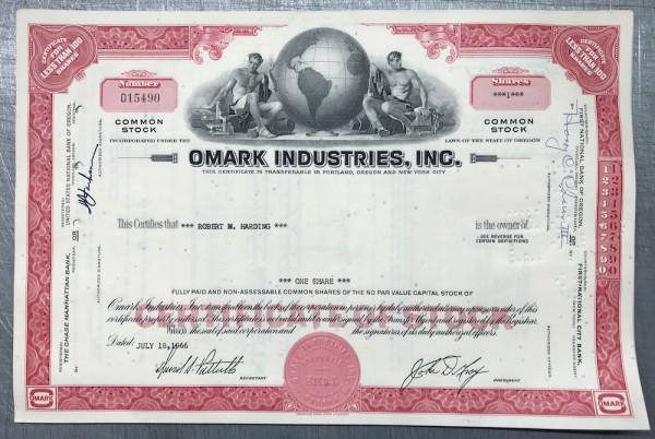 100x Omark Industries Inc. (<100 Shares) 1960er