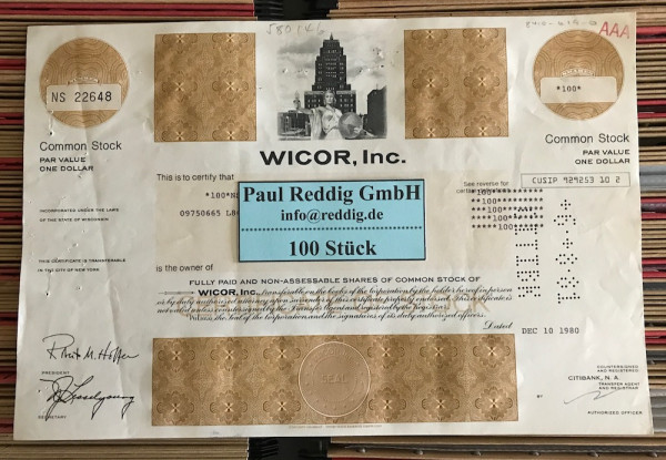 100x WICOR Inc. (diverse Shares)